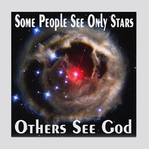 Some People See Only Stars Ot Tile Coaster